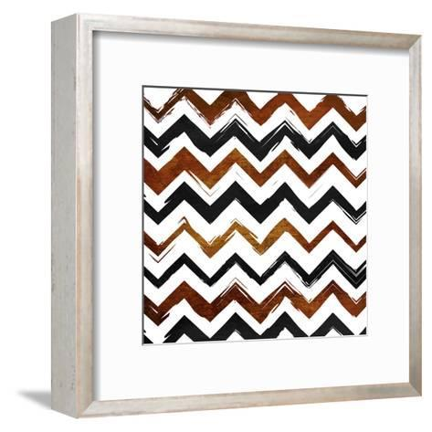 Tribal Chev-Jace Grey-Framed Art Print