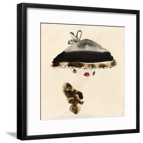 The Leopard Trimmed Hat-Bridget Davies-Framed Art Print