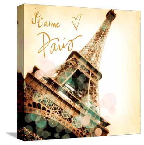 Paris je T'aime-Emily Navas-Stretched Canvas Print