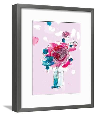 Pink Flowers 2-Paula Mills-Framed Art Print