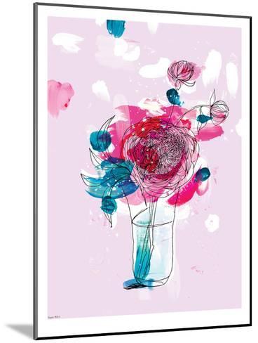 Pink Flowers 2-Paula Mills-Mounted Art Print