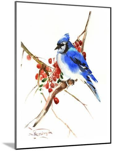 Blue Jay 13-Suren Nersisyan-Mounted Art Print