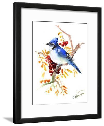 Blue Jay 12-Suren Nersisyan-Framed Art Print