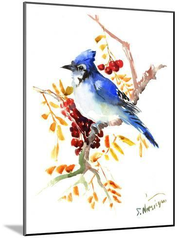 Blue Jay 12-Suren Nersisyan-Mounted Art Print