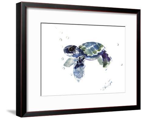 Baby Sea Turtle-Suren Nersisyan-Framed Art Print