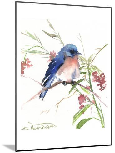 Blue Bird 8-Suren Nersisyan-Mounted Art Print