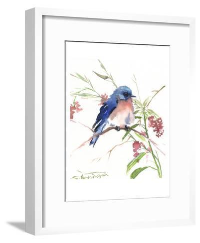 Blue Bird 8-Suren Nersisyan-Framed Art Print
