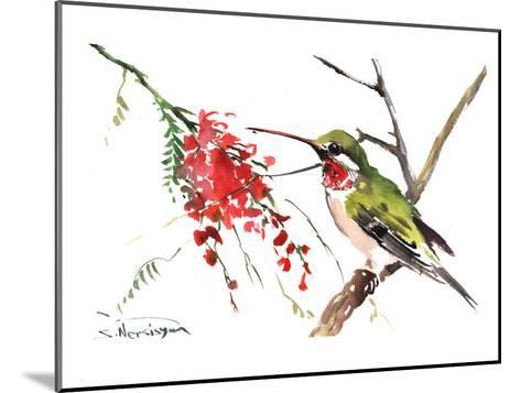 Ruby Throated Hummingbird-Suren Nersisyan-Mounted Art Print