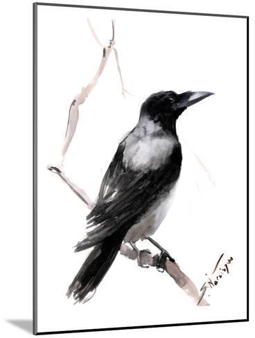 Hooded Crow 2-Suren Nersisyan-Mounted Art Print
