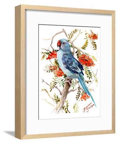 Blue Parakeet-Suren Nersisyan-Framed Art Print