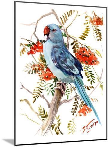 Blue Parakeet-Suren Nersisyan-Mounted Art Print