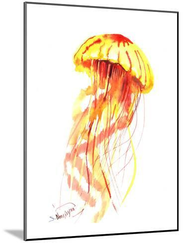 Jellyfish Fire-Suren Nersisyan-Mounted Art Print