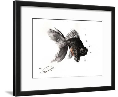 Black Moor, Goldfish-Suren Nersisyan-Framed Art Print