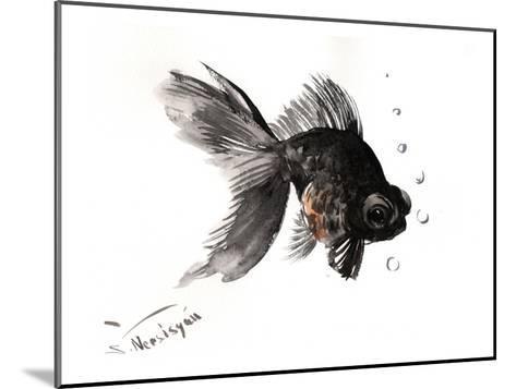 Black Moor, Goldfish-Suren Nersisyan-Mounted Art Print
