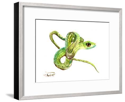 Florida Rough Green Snake-Suren Nersisyan-Framed Art Print