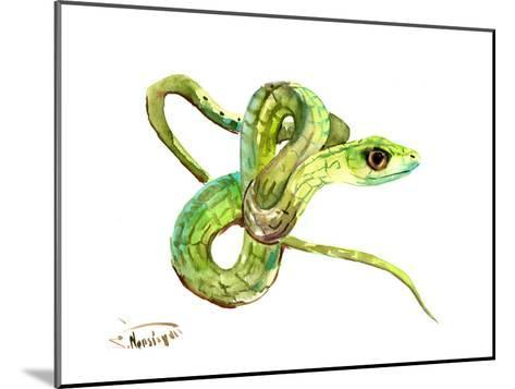 Florida Rough Green Snake-Suren Nersisyan-Mounted Art Print