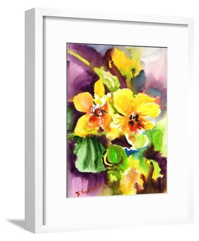 Yellow Orchids-Suren Nersisyan-Framed Art Print