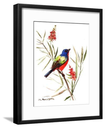 Oaited Bunting-Suren Nersisyan-Framed Art Print