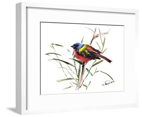 Painted Bunting 3-Suren Nersisyan-Framed Art Print
