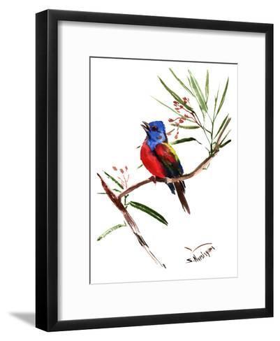 Painted Bunting-Suren Nersisyan-Framed Art Print