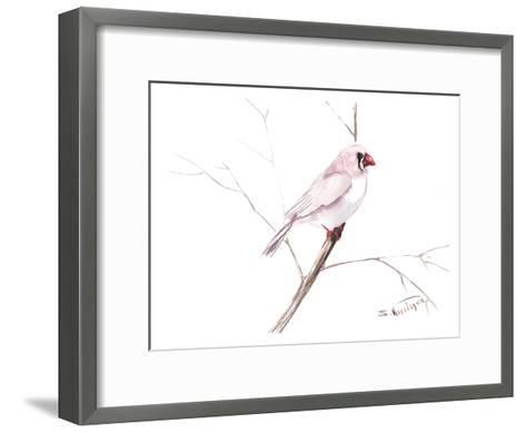 Zebrafinch-Suren Nersisyan-Framed Art Print