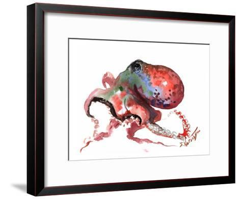 Octopus Rainbow Red-Suren Nersisyan-Framed Art Print