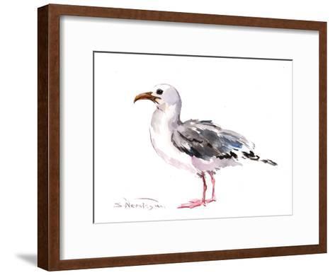 Seagull-Suren Nersisyan-Framed Art Print