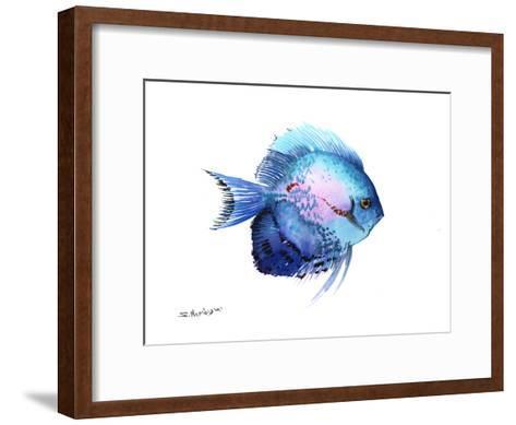 Blue Discus 2-Suren Nersisyan-Framed Art Print