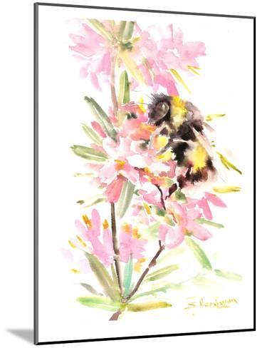 Bee And Flowers-Suren Nersisyan-Mounted Art Print