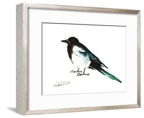 Magpie 2-Suren Nersisyan-Framed Art Print