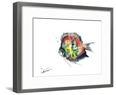 Rainbow Discus-Suren Nersisyan-Framed Art Print