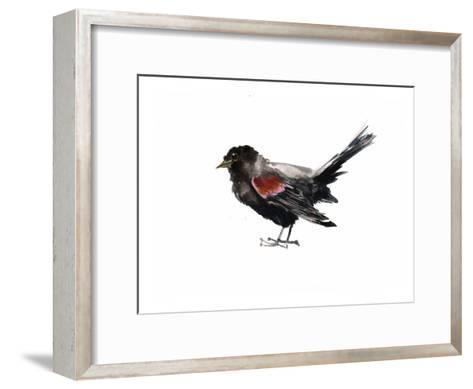Red Winged Blackbird-Suren Nersisyan-Framed Art Print