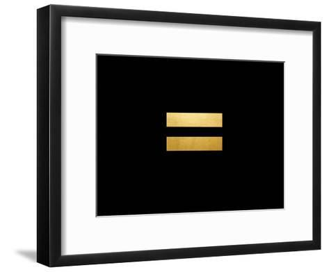 Egalite On Black-Khristian Howell-Framed Art Print
