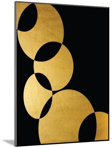 Orbital In Gold-Khristian Howell-Mounted Art Print