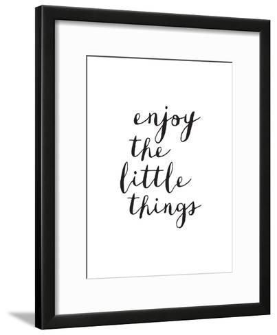 Enjoy The Little Things Copy-Brett Wilson-Framed Art Print