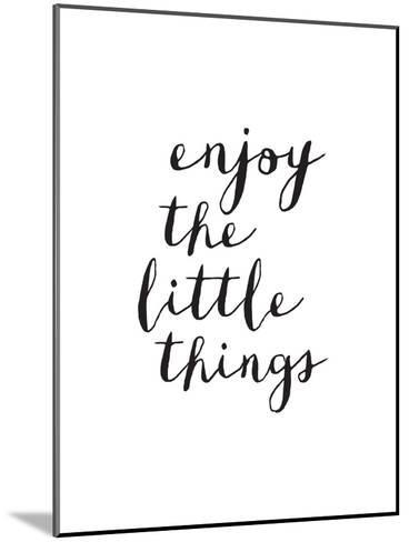 Enjoy The Little Things Copy-Brett Wilson-Mounted Art Print