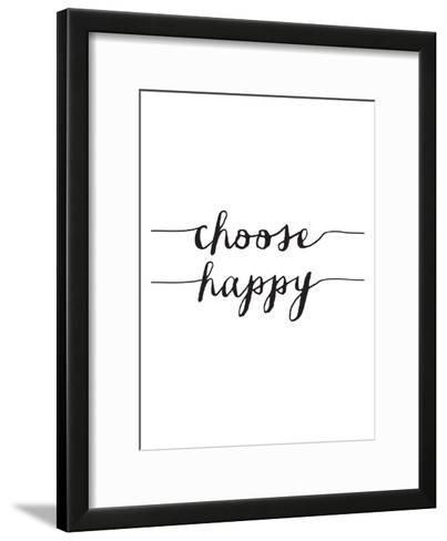 Choose Happy BW-Brett Wilson-Framed Art Print