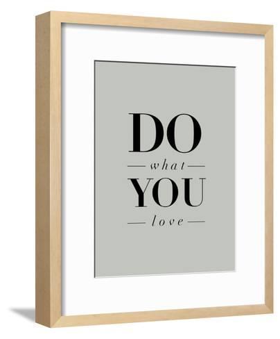 Do What You Love Serif-Brett Wilson-Framed Art Print