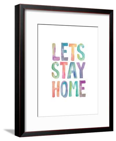 Lets Stay Home Watercolor-Brett Wilson-Framed Art Print