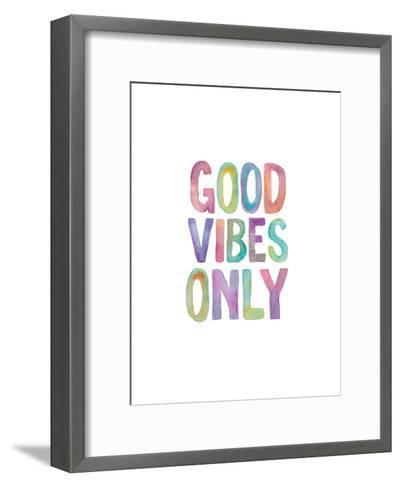 Good Vibes Only Watercolor-Brett Wilson-Framed Art Print