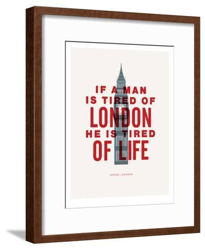 If A Man Is Tired Of London-Brett Wilson-Framed Art Print
