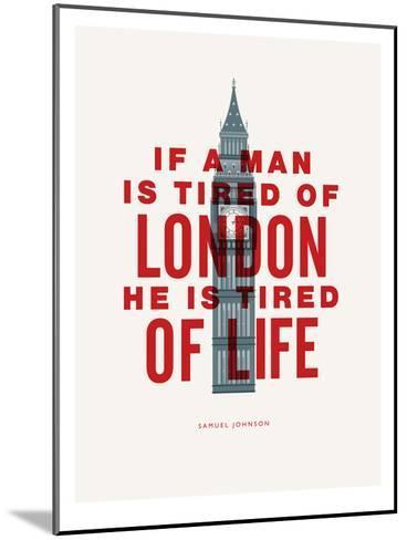 If A Man Is Tired Of London-Brett Wilson-Mounted Art Print