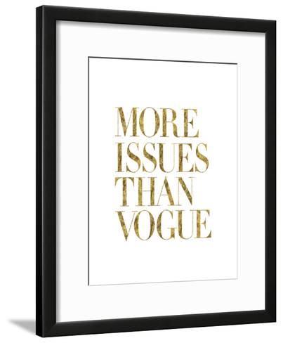 More Issues Than Vogue Gold-Brett Wilson-Framed Art Print