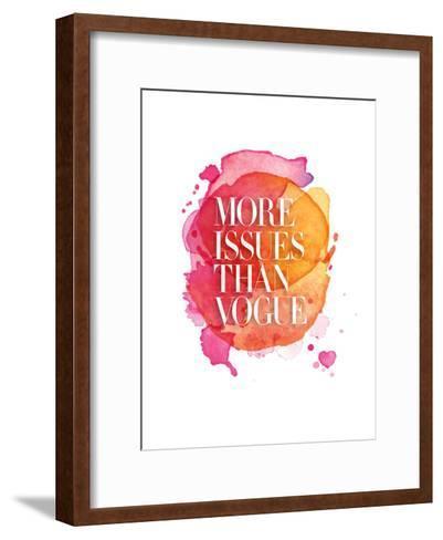 More Issues Than Vogue Watercolor-Brett Wilson-Framed Art Print