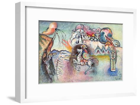 St George the Victorious (Reproduction)-Wassily Kandinsky-Framed Art Print