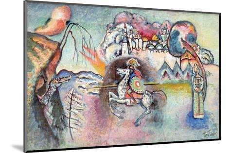 St George the Victorious (Reproduction)-Wassily Kandinsky-Mounted Giclee Print