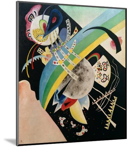 Circles and Black, 1921-Wassily Kandinsky-Mounted Giclee Print