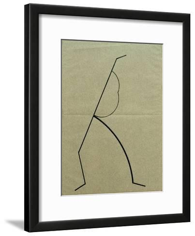 Analytical Drawing after Photos of Dancing 2, 1925-Wassily Kandinsky-Framed Art Print