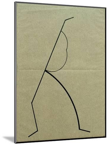 Analytical Drawing after Photos of Dancing 2, 1925-Wassily Kandinsky-Mounted Giclee Print