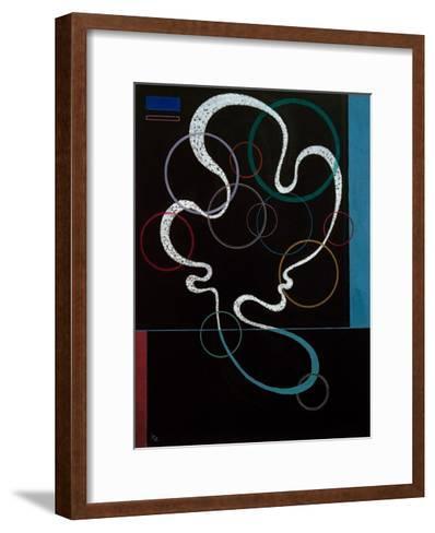 Line Accompanied, 1937-Wassily Kandinsky-Framed Art Print